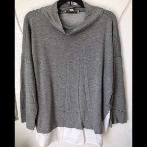 Gray loft blouse/ sweater